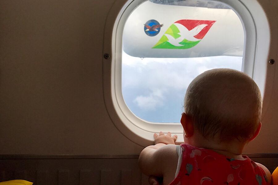Tipps zum Fliegen mit Baby