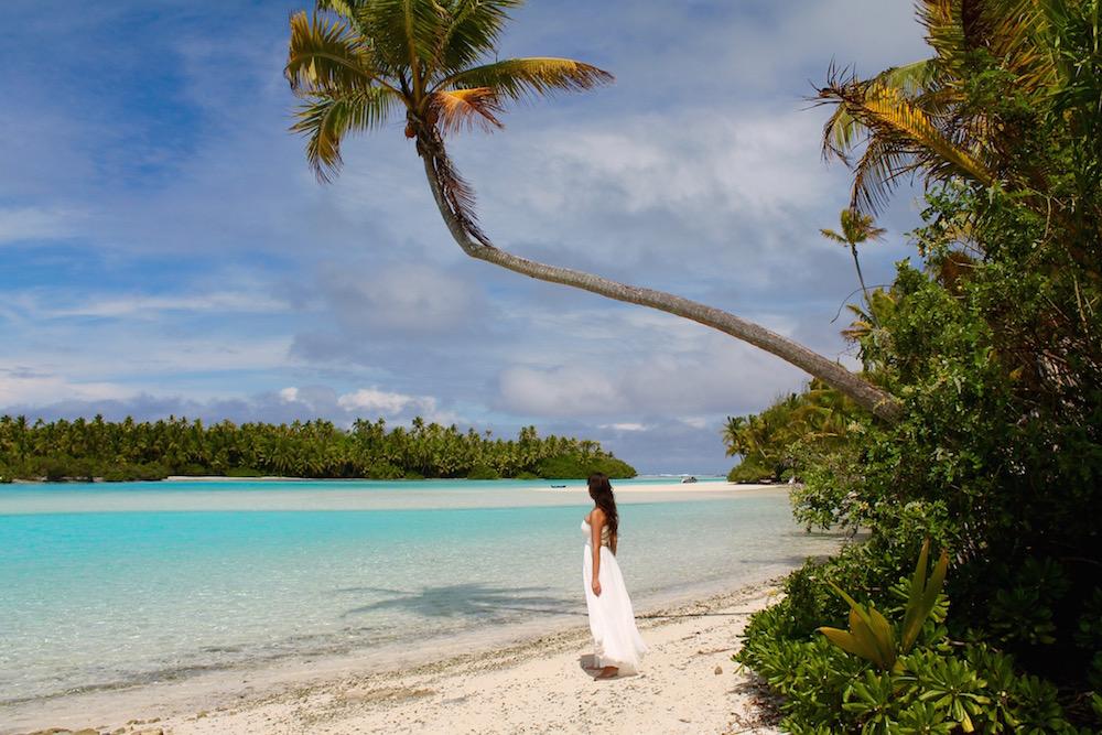 Cook Islands Brautkleid auf Reisen Reisen mit Kind